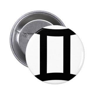 Zwillings-Tierkreis-Zeichen-Ikone Button