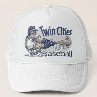 Zwillingsstadt-Baseball-Mütze Truckerkappe