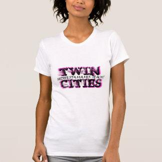 Zwillingsstadt-Behälter T-Shirt