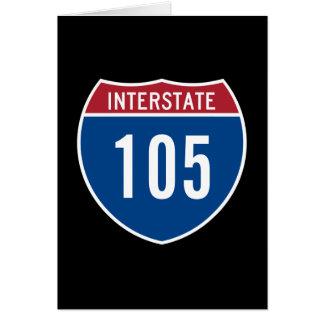 Zwischenstaatliche 105 karte