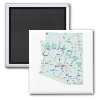 Zwischenstaatlicher Karten-Magnet Arizonas Quadratischer Magnet