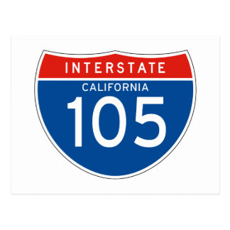 Zwischenstaatliches Zeichen 105 - Kalifornien Postkarte