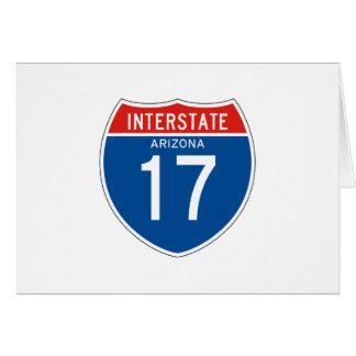 Zwischenstaatliches Zeichen 17 - Arizona Karte