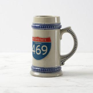 Zwischenstaatliches Zeichen 469 - Indiana Bierglas