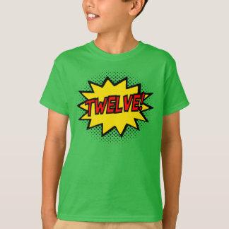ZWÖLF! 12. Geburtstags-Geschenksuperhero-Logo-T - T-Shirt