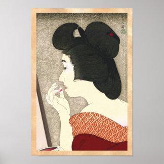 Zwölf Aspekte der Frauen Lippenstift Torii Kotond Posterdruck