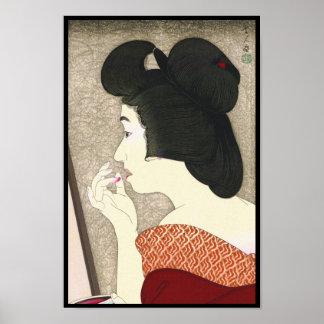 Zwölf Aspekte der Frauen, Lippenstift Torii Kotond Poster