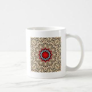 Zwölf Punkte Mandala- Kaffeetasse
