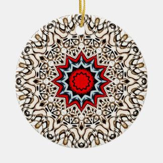 Zwölf Punkte Mandala- Rundes Keramik Ornament
