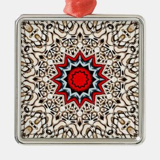 Zwölf Punkte Mandala- Silbernes Ornament