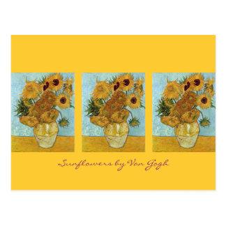 Zwölf Sonnenblumen durch Van Gogh Postkarte