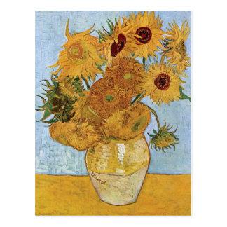Zwölf Sonnenblumen durch Vincent van Gogh Postkarte