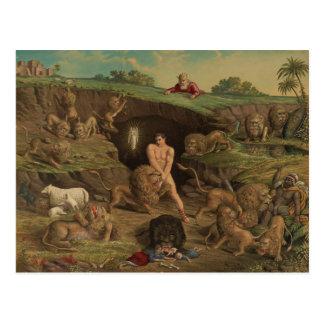 Zwölf Versuchungen Daniel in der Höhle der Löwen Postkarte