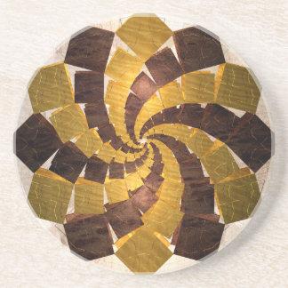 Zwölfeckiges geometrisches u. gewundenes Muster Untersetzer
