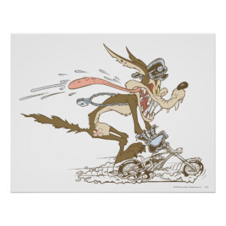 Zyklus-Rennläufer Wile E Coyote Plakat