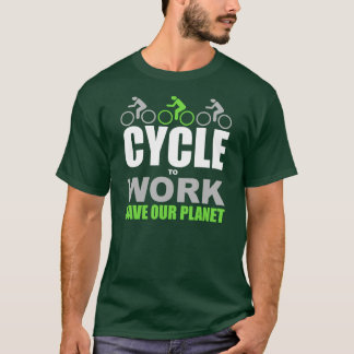 Zyklus zum zu arbeiten T-Shirt