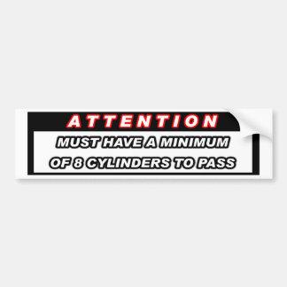 Zylinder der Aufmerksamkeits-8 Autoaufkleber