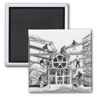 Zylinderdruckpresse erfunden bis zum Richard-März Quadratischer Magnet