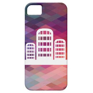 Zylinderförmige Gebäude-Ikone iPhone 5 Etuis