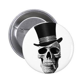 Zylinderschädel Runder Button 5,1 Cm