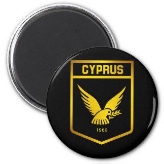 Zypern-Emblem Runder Magnet 5,7 Cm