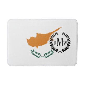 Zypern-Flagge Badematte