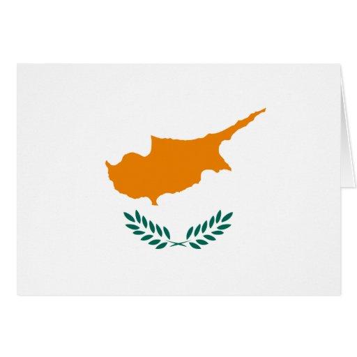 Zypern-Flagge Grußkarte