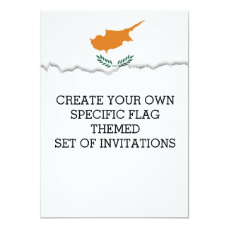 Zypern-Flagge Karte