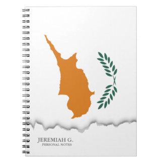 Zypern-Flagge Notizblock
