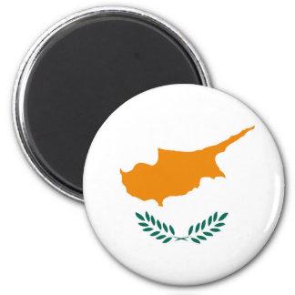 Zypern-Landesflaggesymbol lang Runder Magnet 5,7 Cm