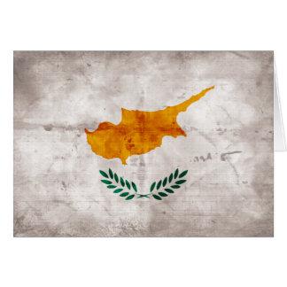 Zypern; Zypriotische Flagge Karte