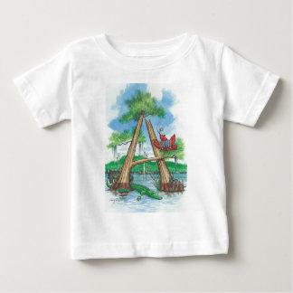 """Zypresse-Baum-Alphabet, beschriften """"A """" Baby T-shirt"""