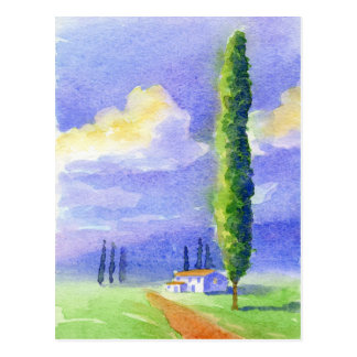 Zypresse-Baum Postkarte