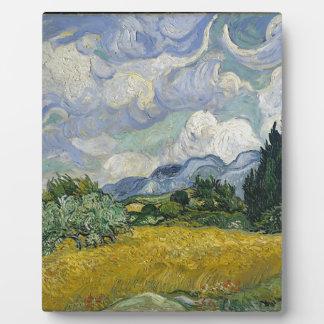Zypresse-Waldung und Weizen-Feld Fotoplatte