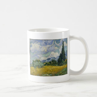 Zypresse-Waldung und Weizen-Feld Kaffeetasse