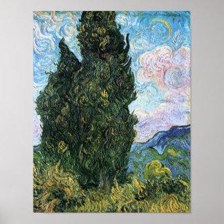 Zypressen, Vincent van Gogh-schöne Kunst Poster