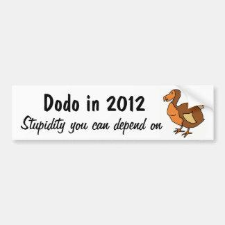 ZZ-, lustiger Dodo-politischer Autoaufkleber